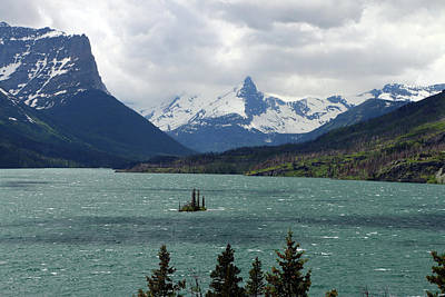 Photograph - Wind Swept Saint Mary Lake by Christiane Schulze Art And Photography