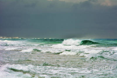 Photograph - Wind Swept Waves 2 by Kelly Nowak
