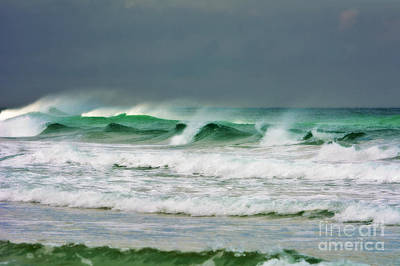Photograph - Wind Swept Waves by Kelly Nowak