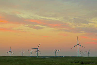 Photograph - Wind Turbine Sunset by James BO Insogna