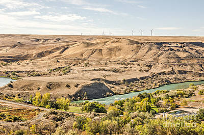 Photograph - Wind Turbines Above The River by Sue Smith