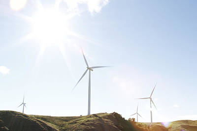 Wind Mills Photograph - Wind Turbines  by Les Cunliffe
