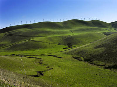 Livermore Photograph - Wind Turbines Line A Mountain Ridge by Amy White & Al Petteway