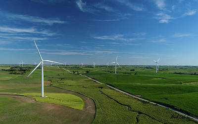 Photograph - Wind Turbines by Mark Dahmke