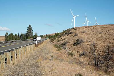 Photograph - Wind Turbines Near Ellensburg by Tom Cochran