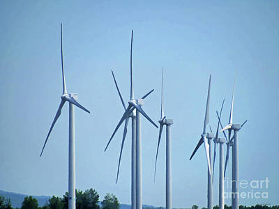 Photograph - Powerful Wind Turbines  by Roberta Byram