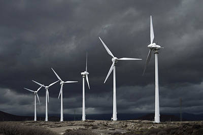 Photograph - Wind Turbines Tenerife Canary Islands by Marek Stepan