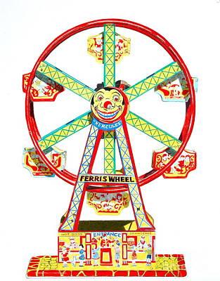 Wind-up Ferris Wheel Art Print