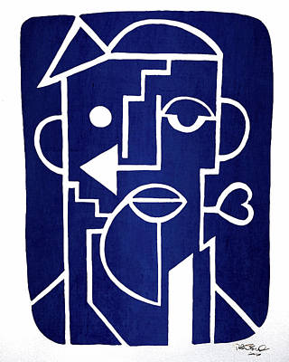 Contemporary Abstract Drawing - Wind Up Man By Erod Art by Robert R Splashy Art Abstract Paintings