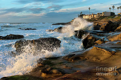 Art Print featuring the photograph Windansea Beach At High Tide by Eddie Yerkish