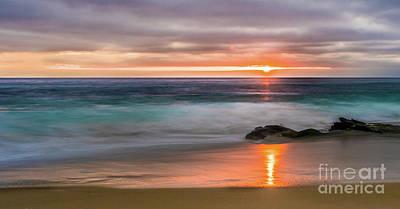 Windansea Beach At Sunset Art Print