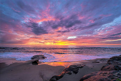 Windansea Beach Sunset Art Print