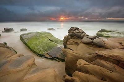 Photograph - Windansea Stormy Sunset by Alexander Kunz