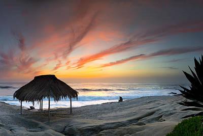 Sunset At The Beach Photograph - Windanseaanfire by Sean Davey