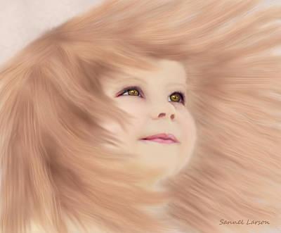 Digital Art - Windblown Child's Play by Sannel Larson