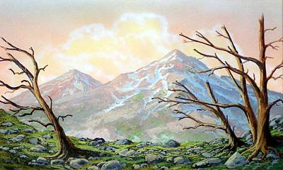 Pacific Crest Trail Painting - Windblown by Frank Wilson