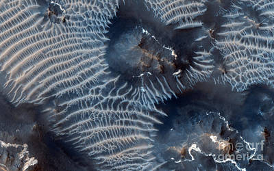 Windblown Painting - Windblown Sediments. Noctis Labyrinthus. Mars by Celestial Images