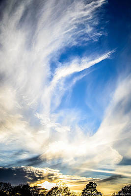 Photograph - Windblown Sky by Teresa Blanton