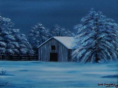 Painting - Windburg Barn 2 by Gene Gregory