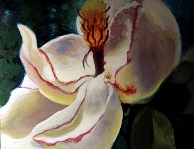 Painting - Windburn Southern Magnolia  by Elaine Hines