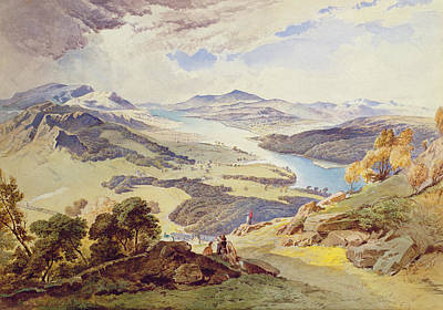 Fell Painting - Windermere From Ormot Head by William Turner
