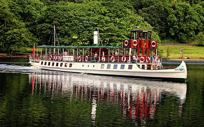 Pleasure Photograph - Windermere Steamer by Martin Newman