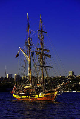 Photograph - Windeward Bound Sailing Sydney Harbour by Miroslava Jurcik