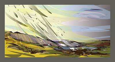 Wall Art - Digital Art - Windfall by Michelle De Villiers