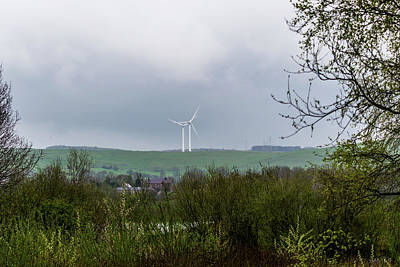 Photograph - Windfarm Through The Trees by Scott Lyons