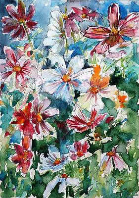 Windflower Painting - Windflowers IIi by Kovacs Anna Brigitta