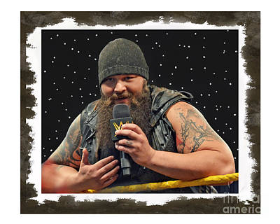 Bos Bos Digital Art - Windham Lawrence Rotunda Pro Wrestling Character Bray Wyatt by Jim Fitzpatrick