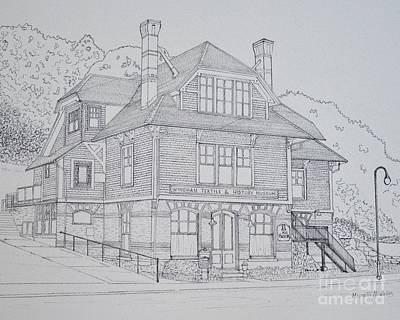 Drawing - Windham Textile And History Museum by Michelle Welles