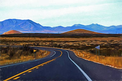 Photograph - Windind Arizona Road Painterly by Toby McGuire