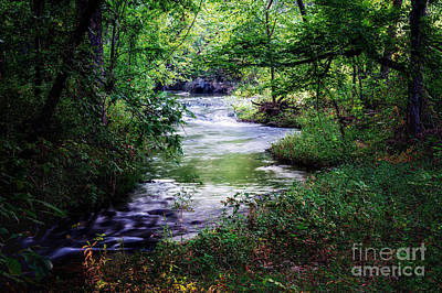 Photograph - Winding Creek At Chickasaw National Recreation Area In Horizontal by Tamyra Ayles