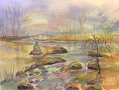 Painting - Bridge Over Quiet Waters by Ellen Levinson