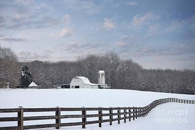 Photograph - Winding Fence Farm by Benanne Stiens