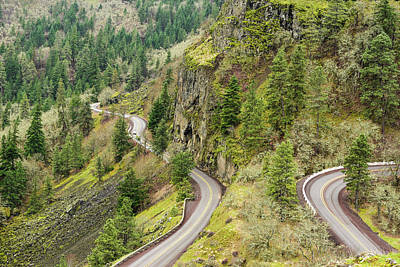 Photograph - Winding Highway Above The Columbia by Tom Cochran