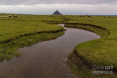 Winding In The Mont Saint-michel Bay Art Print