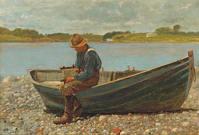 Winslow Homer Painting - Winding Line by Winslow Homer