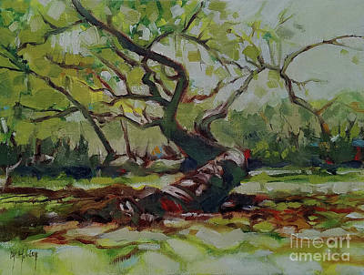 Painting - Winding Oak by Mary Hubley