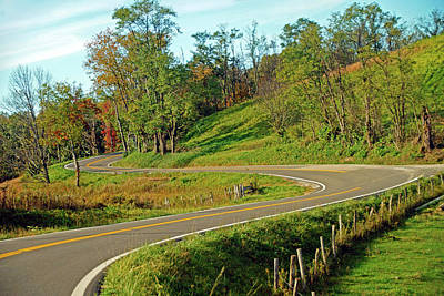 Photograph - Winding Ohio Road by Mike Murdock