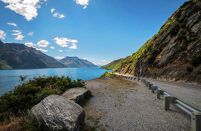 Photograph - Winding Road Along The Shore Of Lake Wakatipu by Daniela Constantinescu