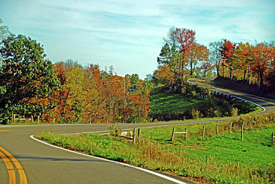 Photograph - Winding Road In Autumn by Mike Murdock