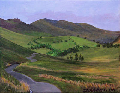 Painting - Winding Road by Janet Greer Sammons
