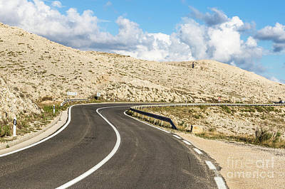 Photograph - Winding Road On The Pag Island In Croatia by Didier Marti
