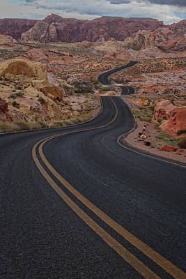 Mojave Photograph - Winding Road by Rick Berk