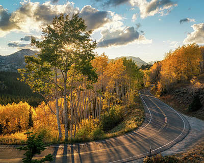Autumn Road Photograph - Winding Road Through Big Cottonwood Canyon by James Udall