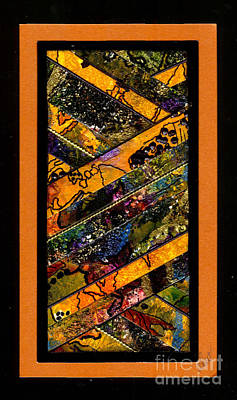 African-american Mixed Media - Winding Roads I by Angela L Walker