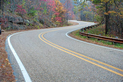 Photograph - Winding Roads In Autumn by Gregory Ballos