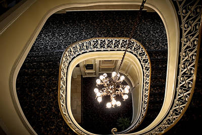 Winding Staircase - The Biddle Mansion Art Print